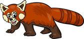 Red panda animal cartoon illustration — 图库矢量图片