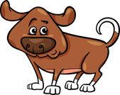 милая собака иллюстрации шаржа — Cтоковый вектор