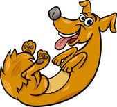 милые игривые собаки иллюстрации шаржа — Cтоковый вектор