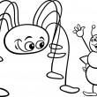 Постер, плакат: Ant and opilion coloring page