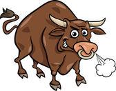 Touro farm animal cartoon ilustração — Vetor de Stock