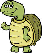 Turtle character cartoon illustration — Stock Vector