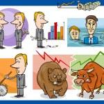 Постер, плакат: Businessmen cartoon concepts set