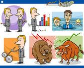 Businessmen cartoon concepts set — Stock Vector