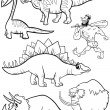 ������, ������: Prehistoric set for coloring book