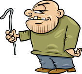 Thug with jemmy cartoon illustration — Stock Vector