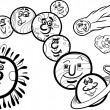 ������, ������: Solar system planets coloring page