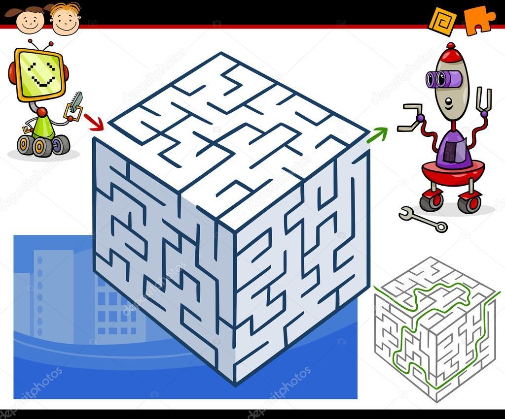 卡通迷宫游戏 — 图库矢量图像08