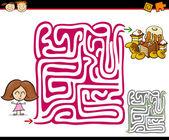 漫画の当惑か迷路ゲーム — ストックベクタ