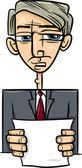 Man giving speech cartoon illustration — Stock Vector