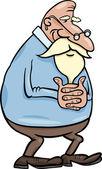 Senior grandfather cartoon illustration — Stock Vector