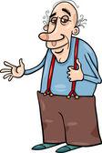 Senior grandfather cartoon illustration — Vetorial Stock