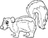 Skunk Tier Cartoon Malseite — Stockvektor