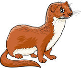 Weasel animal cartoon illustration — Stock Vector
