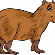 Capybara animal cartoon illustration — Vetorial Stock