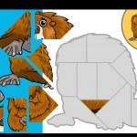 Cartoon beaver jigsaw puzzle game — Stock Vector #48135163