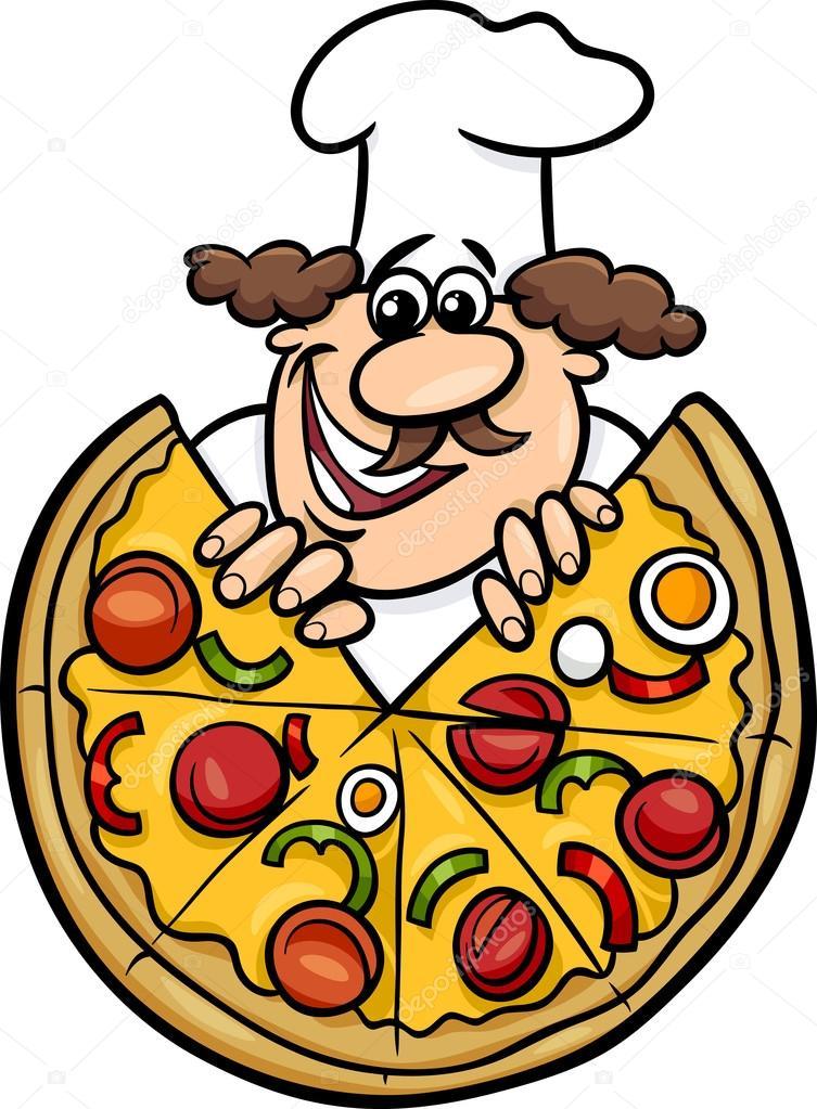 Resultado de imagen de pizza italiana dibujo