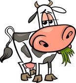 Cow farm animal cartoon illustration — Stock Vector