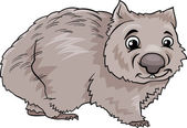 Wombat animal cartoon illustration — Stock Vector