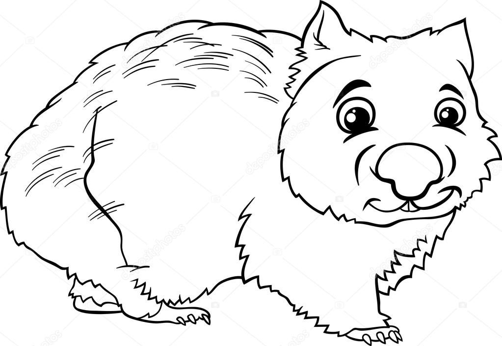 Wombat Coloring Page Coloring Coloring Pages