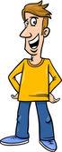 иллюстрации шаржа веселый человек — Cтоковый вектор