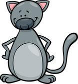 Söt katt tecknad bild — Stockvektor