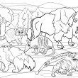Постер, плакат: Mammals animals cartoon coloring page