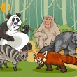 Постер, плакат: Mammals animals cartoon illustration