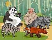 Mammals animals cartoon illustration — Stock Vector