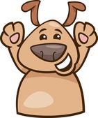 Mood happy dog cartoon illustration — Stock Vector