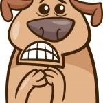 Terrified dog cartoon illustration — Stock Vector #50428243