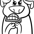 Terrified dog cartoon coloring page — Stock Vector #50428245