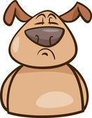 Mood proud dog cartoon illustration — Stock Vector