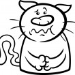 ������, ������: Sick cat cartoon coloring page