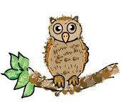 Owl cartoon — Stock Photo