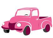 Pink truck — Stock Photo