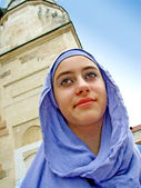 A beautiful young muslim girl — Stock Photo