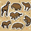African animals stickers — Stock Vector #44846493