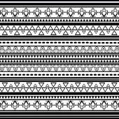 Aztec pattern with geometrical elements — Stock Vector