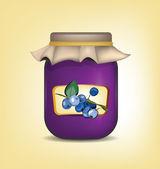 Blueberry Jam — Stock Vector
