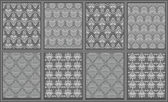 Eight victorian carpet designs — Stock Vector