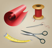 Sewing and knitting tools. — Stock Vector