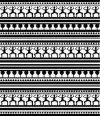 Maori and Egypt Hieroglyphs pattern — Stock Vector