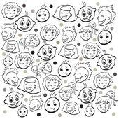 Funny kids faces  — Cтоковый вектор