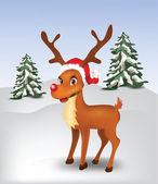 Reindeer in snow — Vetorial Stock