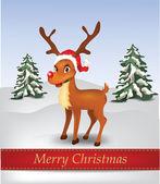 Raindow Illustration with Christmas Text — Stock Vector