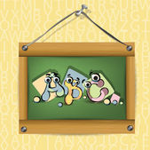 Wooden school board — 图库矢量图片