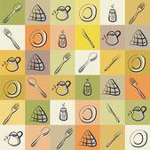 Kitchen utensils Background — Stock Vector