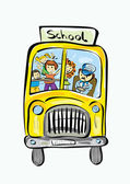 Hand dras skolbuss — Stockvektor