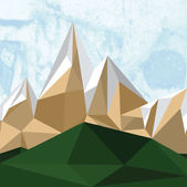 Cubic style mountain origami — Vector de stock